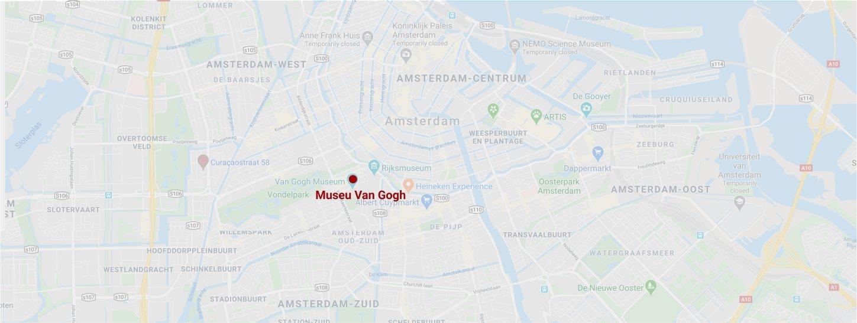 Museu Van Gogh mapa