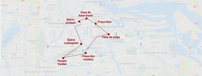 Passeio de Bike mapa do percurso